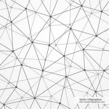 Abstract seamless background made of polygonal net by VectorInfographics