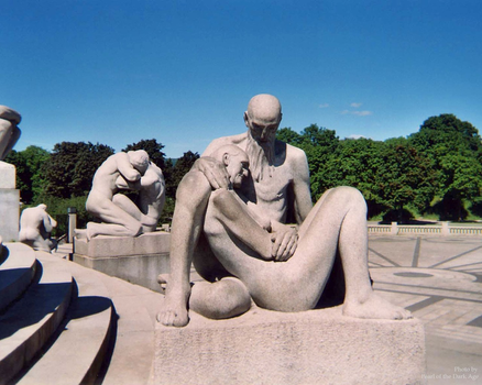 Vigeland Old Couple Wallpaper by DarkAgePearl