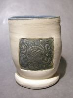 Octopus tumbler - blue-gray by trickypink