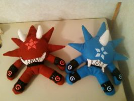 Shaman King Shikigami Plushies by YoshidaEri