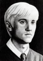 HBP Portrait: Tom as Draco by Rotae