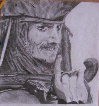 Captain Jack Sparrow by Billionairere