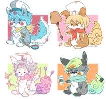 (CLOSED) Chuubi Bunnies adopts 3 by Erickiwi-adopts