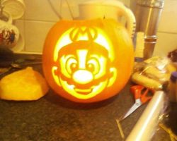 mario pumpkin by ccootttt
