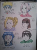 Sketches: Naruto Characters by Millie-Rose13