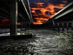 Bridge and Sunset by lost-remains