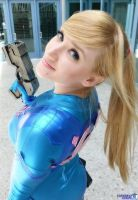 Over the Shoulder Samus by Pokypandas