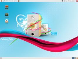 My Ubuntu 7.10 Desktop by tayzar44