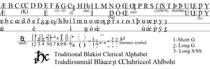 Blakist Clerical Script by tylero79