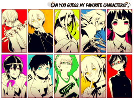 Can you guess my favourite characters? by 210793