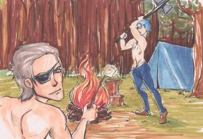 Manly Camping by DeesDilemma