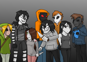The Creepypasta gang -Older and new members- ~ CP by RIOPerla