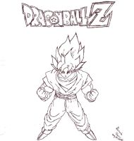 Goku DBZ by MysticDreamz