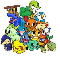 All Pokemon Starters by Patcha105