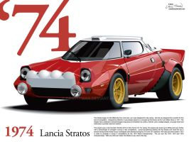 1974 Lancia Stratos WALLPAPER by CRWPitman