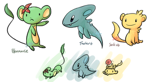 Fakemon Starters by Super-Latte