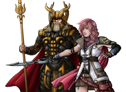The wrong Odin (Final Fantasy XIII x Thor: TDW) by OutlawTornDOA