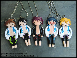 Iwatobi Swim Club Necklaces by GrandmaThunderpants