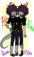 Kyle n Kuro Komodo by Ask-Monster-King