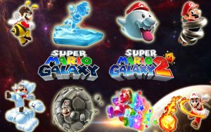 Super Mario Galaxy 1 and 2 by blakehunter