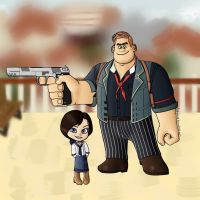 Wreck-It Ralph/Bioshock Infinite by LadyLaird