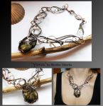 Yesica- wire wrapped copper necklace by mea00