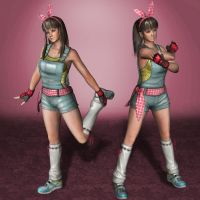 Dead Or Alive 5 Ultimate Hitomi Overalls by ArmachamCorp