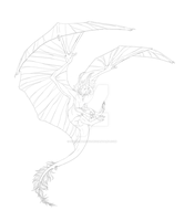Dragon --lineart-- by Shiro-Marusu