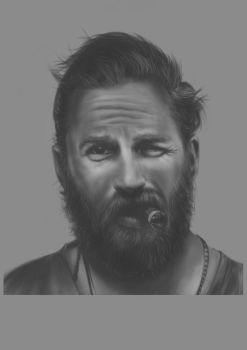 Tom Hardy quick paint by Saltysuicide
