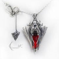 NAHSDURX - silver and red quartz by LUNARIEEN