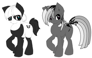 Silent Panda and Grey Rainbow by Black-Rose-Emy