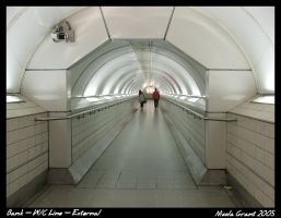 Bank Station Tunnel - exterior by spookiedoofus