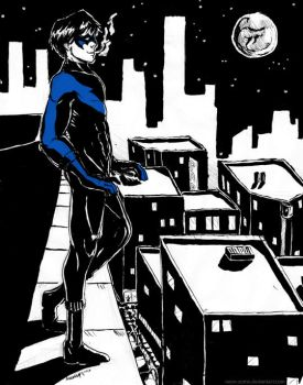 Nightwing - Chill by neon-sumo