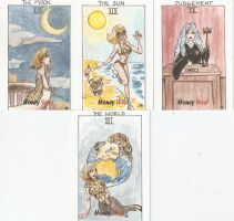 Honey West Tarot Cards 3 by AmberStoneArt
