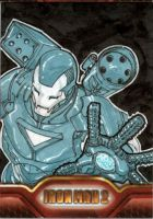 Iron Man 2 sketchcard 8 by SpiderGuile