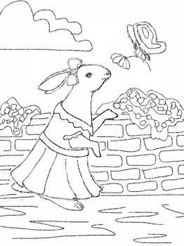 Bunny Coloring Page by oodajunkie