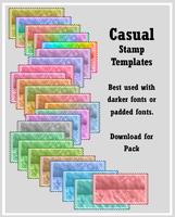 Casual Stamp Templates by AssClownFish