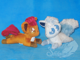Vulpix beanies by FeatherStitched