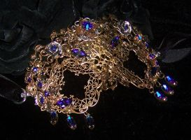 Heliotrope Steampunk Ball Mask by lilibat