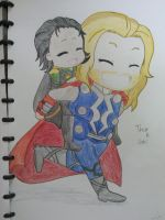 Loki and Thor by Nixu7