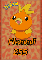 Pokemon Flemmli 255 Karte by WallpaperZero