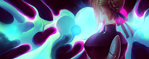 Saber Smudge Collab by Aoi-Heart