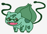 Bulbasaur with sunglasses - drawing request by Britterzbee