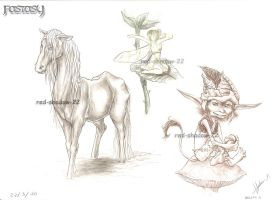 Fantasy Creatures :Pencil: by Red-Sinistra