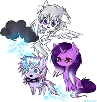 Steadfast, Stormy and Lightning Rod by ponymonster