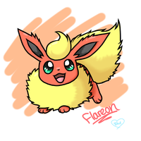 Chibi Flareon by Bluekiss131