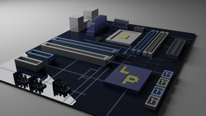 Low-Poly Motherboard by NotActuallyBFG