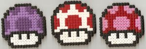 Mario Mushrooms Hama by JiFish
