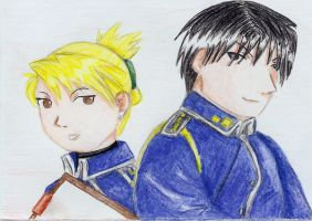 Riza and Roy by kryfionka