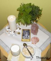 May fullmoon altar 2. by LoveLiveLilith